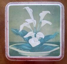 vintage old Tin with Canna Lily lid Shabby Chic