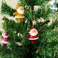 6Pcs Christmas Mini Santa Claus Doll Hanging Ornaments Gift Decoration Xmas C1R2