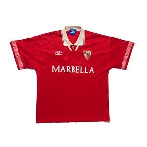 🔥Original Sevilla 1994/96 Away Football Shirt Umbro - Size Large🔥