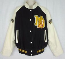 Vintage Women's Varsity Football Jacket ~ N.D. Class of 1987 ~ Black & White ~