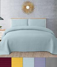 Kate Stripe Pick-Stitch Vintage Washed Quilt & Pillow Sham Set