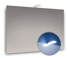 Specchio bagno filo lucido 70x50 cm con luce per specchio a led