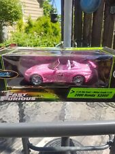 Ultra Rare Fast and The Furious pink 2000 1:18 die cast honda UNOPENED read desc