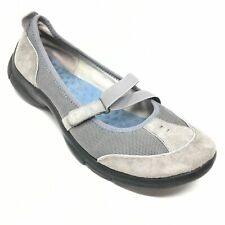 Women's Privo by Clarks Mary Jane Loafers Shoes Size 9.5M Gray Suede Casual N5