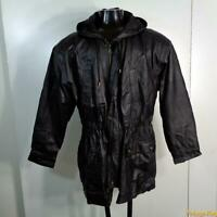 N.Y.D.A. New York Direct Action Soft Leather JACKET Womens Size M Black zippered