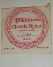 D'Addario Classic Nylon B or 2nd String J2702 Classical Guitar String