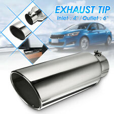 4'' Inlet 6'' Outlet Stainless Diesel Tail Exhaust Tip Muffler Pipe Universal