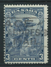 Canada #208(5) 1934 3 cent CARTIER'S ARRIVAL IN QUEBEC Used CV$2.00