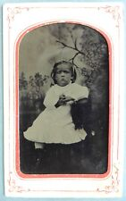 FERROTYPE PHOTO enfant petite fille  F714