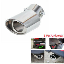 Car Universal Round Stainless Steel Chrome Exhaust Tail Muffler Pipe Silencer