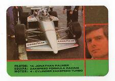 1987 Portugese Pocket Calendar F1 Zakspeed Team - M. Alboreto + S. Johansson