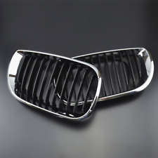 Pair Front Grill Electroplate Frame For 02-05 BMW 3 Series 320i E46 4 Door 4D