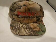 Camouflage Rocky Shoes and Boots Baseball Cap Hat Adjustable Snapback Camo