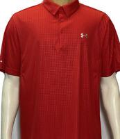 Under Armour Heat Gear Golf Polo Men's XXL 2XL Red Short Sleeve Golf Shirt