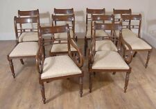Set Regency Mahogany Dining Chairs - Flower Bar Diners