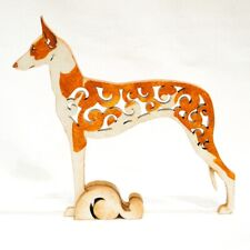 Dog Ibizan Hound podenco ibicenco figurine, statuette made of wood (MDF), statue
