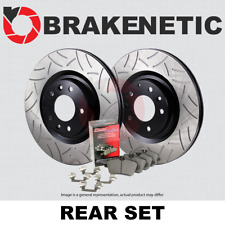FRONT REAR SET Performance Cross Drilled Slotted Brake Disc Rotors TBS12363
