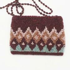 Moyna Beaded Purse Small Evening Bag Cell Phone Holder Wallet