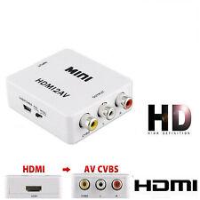 HDMI to AV/RCA CVBS Adapter 1080P Video Converter HDMI2AV Adapter Converter US