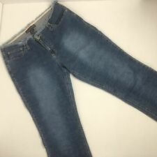 Aeropostale Juniors Girls Size 11-12 Denim Jeans Capris Fringe