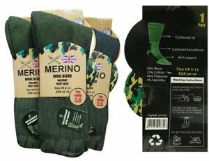 Mens Thermal Winter Socks Merino Wool Blend Military Work Boot 2.8Tog 6-11 Size