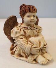 Nib 1996 Angetique Ingenue Angel Cherub Box Figurine Anin By Harmony Kingdom Nos