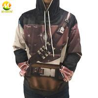 The Mandalorian Cos Hoodie Cartoon Yoda Pullover Sweatshirt Hooded Jacket Adult