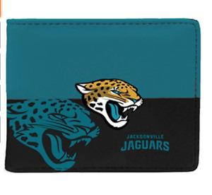 Jacksonville Jaguars NFL Men's Printed Logo Leather Bi-Fold Wallet
