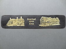 BOOKMARK Leather Embossed STRATFORD UPON AVON Anne Hathaways Cottage Shakespeare