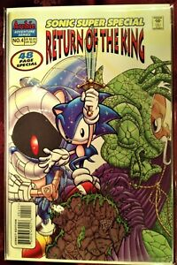 SONIC The HEDGEHOG SUPER SPECIAL Comic Book 1998 #4 RETURN OF THE KING Bag VF+