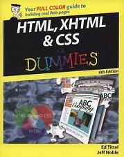 HTML, XHTML and CSS for Dummies by Ed Tittel and Jeff Noble (2008, Paperback)
