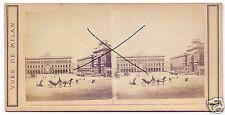19546/ Stereofoto 9x17,5cm, Vues de Milan, ca. 1870