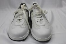 Women BASS White Leather Sneakers Shoes 8.5M