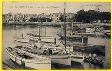 cpa Aquitaine 64 - SAINT JEAN de LUZ Le PORT des PÊCHEURS Barque Bateaux Animée