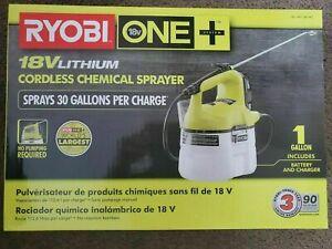 Ryobi One+ 18 Volt Lithium Ion Cordless Chemical Sprayer/Fogger BATTERY&CHARGER