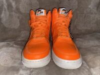 Nike Airforce 1 orange high dunk top sneakers youth sz 5y AV7951-800