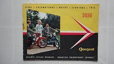CATALOGUE PEUGEOT 1956 BIMA VELOMOTEURS MOTOS SCOOTERS TRIS STE CYCLES PEUGEOT