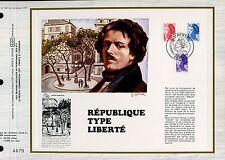 DOCUMENT CEF PREMIER JOUR 1983  TIMBRE N° 2274 - 2275 - 2276 MARIANNE LIBERTE