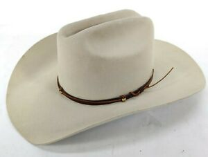 Renegade Tripper Cowboy Hat Off White Wool w/ Leather Band Size 7 1/8 (57) USA