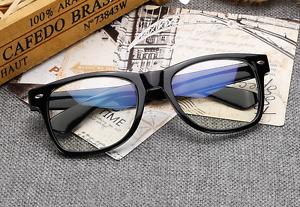 Fashion Black Eyeglass Frames Men Eyewear Women RX Spectacles Glasses