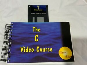 """The C Video Course by Silicon River - Textbook Manual and 3.5"""" Floppy disk."""