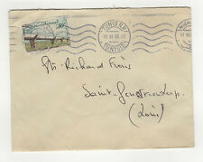 Tunisie 1 timbre sur lettre 1960 tampon Tunis /L452