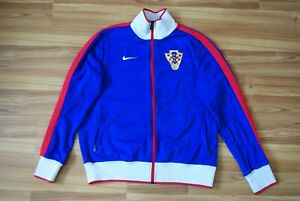 SIZE L NIKE N98 CROATIA HRVATSKA TEAM FOOTBALL AUTHENTIC TRACK JACKET BLUE RARE