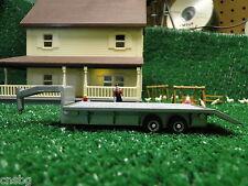 NEW! Ertl 1/64 Flatbed Tilt bed TRAILER 5th Wheel ( Silver )