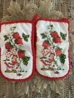 Vintage Pair 1980 Strawberry Shortcake American Greetings Christmas Pot Holders