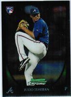 JULIO TEHERAN Atlanta Braves 2011 BOWMAN CHROME True Rookie Card RC #201