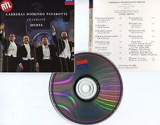 "CARRERAS DOMINGO PAVAROTTI ""En concert MEHTA"" (CD) 1990"