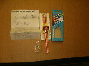 Radio Shack 60-1079 Pop Time Child's Watch (needs battery) Manufactured May 1987