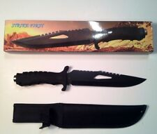 Frost Strike First 13 Inch Black Fixed Blade Tactical Knife - NIB -Rubber Handle