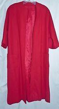 Vintage 1960's 3/4 sleeve Red Wool Clutch Coat Duster M